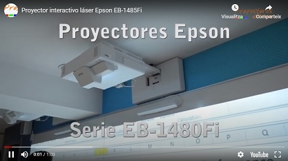 Interactive laser projector <br> Epson EB-1485Fi